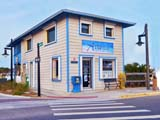 the Atlantic Ocean Realty office, located at 212 South Oceanshore (A1A) Boulevard in Flagler Beach, Florida, right opposite the Pier