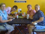 Diners at the Big Easy Cafe in Flagler Beach