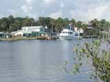 Yacht on the Intracoastal Waterway in Flagler Beach