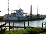 US Coast Guard barge on the Intracoastal Waterway