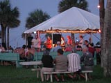 a First Friday free concert in Veteran's Park in Flagler Beach, Florida