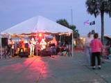 First Friday free concert in Veteran's Park, Flagler Beach, Florida