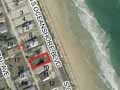 an aerial view of the lot at 2032 South Oceanshore Boulevard in Flagler Beach Florida